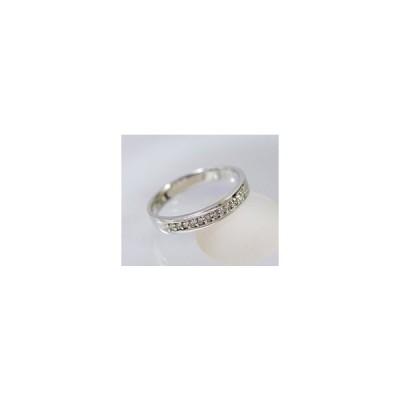 k18WG ダイヤモンド エタニティ  リング (サイズ7号〜20号) 4月誕生石 アクセサリー 指輪