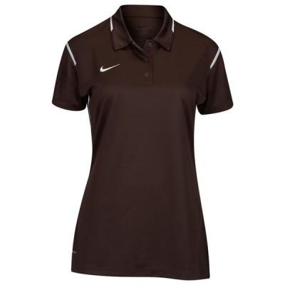 ナイキ Nike レディース フィットネス・トレーニング トップス Team Gameday Polo Brown/White/White