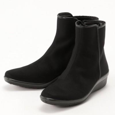 透湿防水・脱ぎ履き楽ちん♪レイン対応ブーツ ブラック 22.5 23 23.5 24 24.5