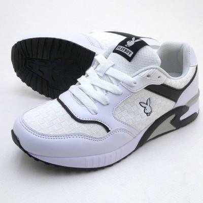 靴幅:3E広め PLAYBOY Bunny プレイボーイ レディース スニーカー PB-101 ホワイト PB101 PSsale