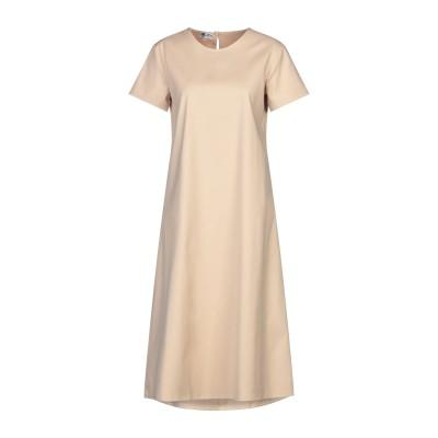 BINI Como 7分丈ワンピース・ドレス ベージュ 40 コットン 100% 7分丈ワンピース・ドレス