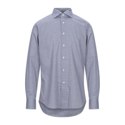 CANALI チェック柄シャツ  メンズファッション  トップス  シャツ、カジュアルシャツ  長袖 ダークブルー