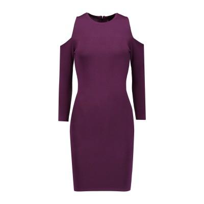 LINE ミニワンピース&ドレス パープル M レーヨン 55% / ナイロン 45% ミニワンピース&ドレス