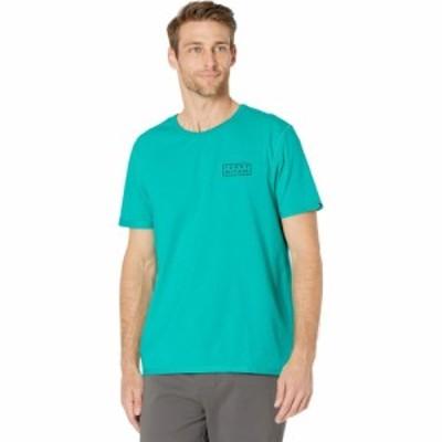 トミー ヒルフィガー Tommy Hilfiger Adaptive メンズ Tシャツ トップス Sensory Friendly Tagless Tommy Stretch Tee Aqua Teal