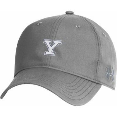 アンダーアーマー メンズ 帽子 アクセサリー Under Armour Men's Yale Bulldogs Grey Performance 2.0 Adjustable Hat