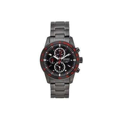 Sieko Men's SNAD91 Stainless Steel Analog with Black Dial Watch
