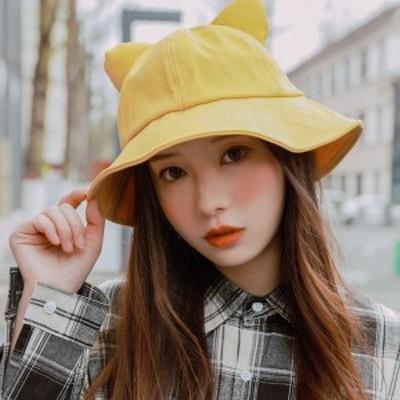 帽子 日よけ帽子 UVカット レディース 春 夏 春夏 春夏帽子 ねこみみ バケットハット 猫耳 レディース 可愛い