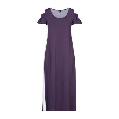 1-ONE 7分丈ワンピース・ドレス ディープパープル 40 レーヨン 93% / ポリウレタン 7% 7分丈ワンピース・ドレス