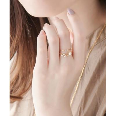 指輪 2setフロストビジューリング