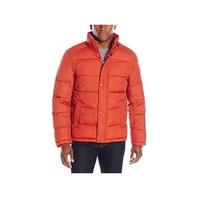 トミーヒルフィガー ジャケット メンズ ナイロン パフの入った US サイズ: Medium カラー: オレンジ