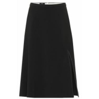 ロシャス Rochas レディース ひざ丈スカート スカート Stretch wool-crepe midi skirt Black