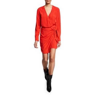 イロ レディース ワンピース トップス Ophie Long-Sleeve Wrap Dress