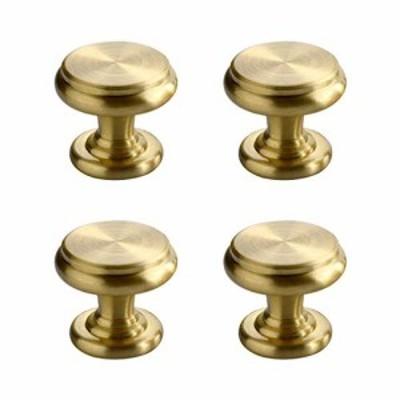 『送料無料!』CUTOOP 4個入 真鍮 取っ手 中世のモダンなスタイル ブラッシュドブラス 引き出し つまみ キャビネット ハードウェア キッ