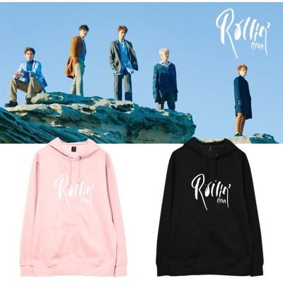 大人気!韓流グッズ B1A4  rollin アルバム週辺 フードスウェット韓国ファッション   男女兼用  厚手/薄 パーカー  トップス 韓国 トレーナー