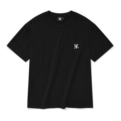 【WOOALONG公式】シグネチャー刺繍半袖Tシャツブラック