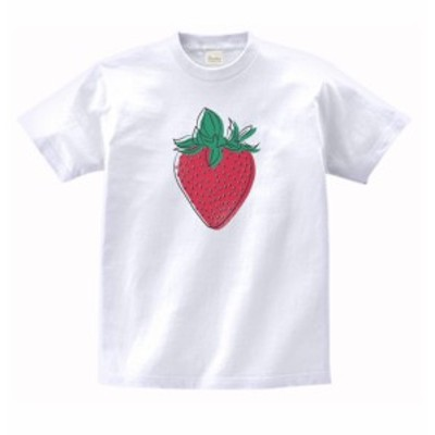 食べ物 野菜 Tシャツ イチゴ 白