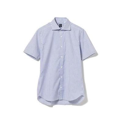 [ビームスエフ] シャツ ストライプ カッタウェイカラーシャツ メンズ 21010087183 BLUE/STR-1 XS