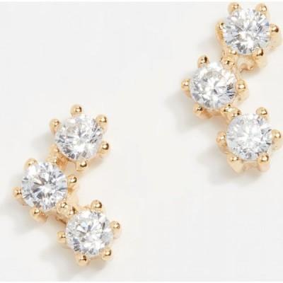 シャシ SHASHI レディース イヤリング・ピアス スタッドピアス ジュエリー・アクセサリー Trinity Stud Earrings Gold/Clear