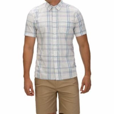 ハーレー Hurley メンズ 半袖シャツ トップス Frankie Stretch Short Sleeve Button Down Shirt White