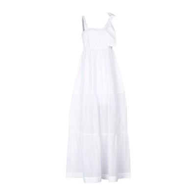 ピンコ PINKO ロングワンピース&ドレス ホワイト 42 100% コットン ロングワンピース&ドレス