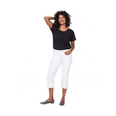 NYDJ エヌワイディージェー レディース 女性用 ファッション ジーンズ デニム Marilyn Crop Cuff Jeans in Optic White - Optic White