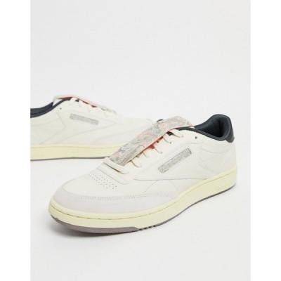 リーボック Reebok メンズ スニーカー シューズ・靴 Club C 85 Trainers In Classic White ホワイト