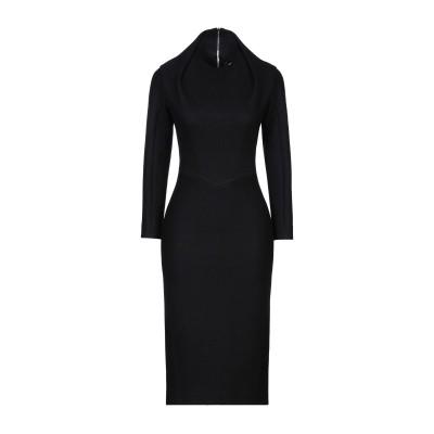ディースクエアード DSQUARED2 7分丈ワンピース・ドレス ブラック XS ウール 48% / コットン 40% / ナイロン 12% 7分丈