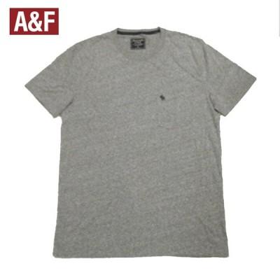 アバクロ Tシャツ ムースロゴ刺繍ワンポイント ポケットあり 半袖 アバクロンビー メンズ 大きいサイズ XLビッグサイズあり モクグレー