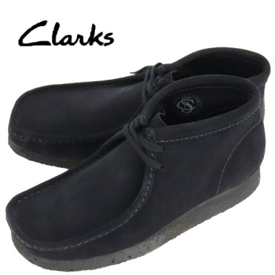 クラークス オリジナルズ CLARKS ORIGINALS メンズ スエード ワラビーブーツ WALLABEE BOOT 26133281 BLACK SUEDE(ブラック)返品交換不可