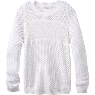 プラーナ PRANA レディース ニット・セーター トップス Kokimo Long-Sleeve Sweater WHITE
