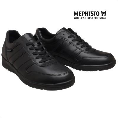 メフィスト 正規品 靴 MEPHISTO VITO BLACK スニーカー レースアップ ウォーキングシューズ メンズ 革靴 紳士靴
