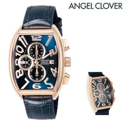 エンジェルクローバー 腕時計 ダブルプレイソーラー DPS38PNV-NV メンズ AngelClover ステンレススチール ミネラルガラス 本革 ラバー
