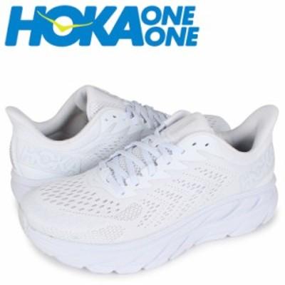 HOKA ONE ONE ホカオネオネ クリフトン7 スニーカー メンズ 厚底 CLIFTON 7 ホワイト 白 1110508