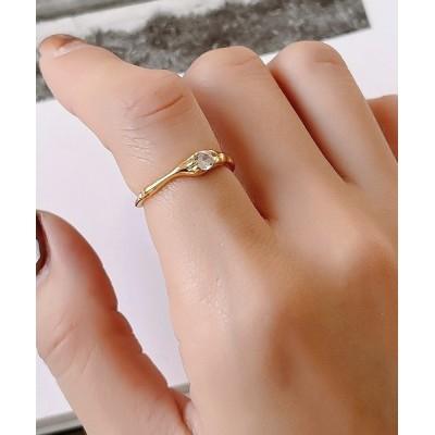 Fun & Daily / F&D : Random zircon Ring Silver925 WOMEN アクセサリー > ピアス(両耳用)