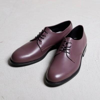 アルコレッタパドローネ 革靴  ARCOLLETTA PADRONE DERBY PLAIN TOE SHOES ダービープレーントゥーシューズ Purple パープル 2019秋冬新作