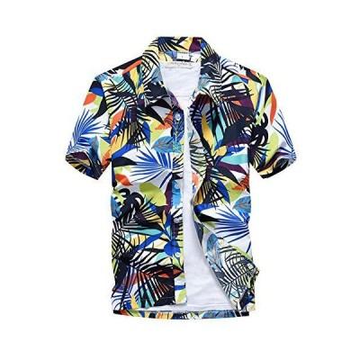 -TERA Dream- アロハシャツ メンズ 半袖 ハワイ風 プリントシャツ 通気速乾 軽量 花柄シャツ 夏 ビーチ ウェディング ウエア オシャレ