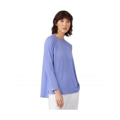 Eileen Fisher アイリーンフィッシャー レディース 女性用 ファッション Tシャツ Crew Neck Raglan Sleeve Shirt - Hydrangea