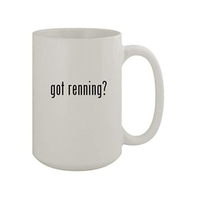 got renning? - 15oz Ceramic White Coffee Mug, White