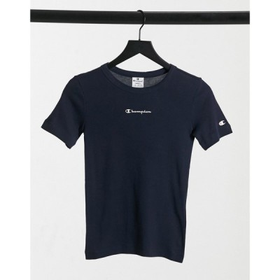 チャンピオン Champion レディース Tシャツ トップス Crew Neck T-Shirt In Navy ネイビー