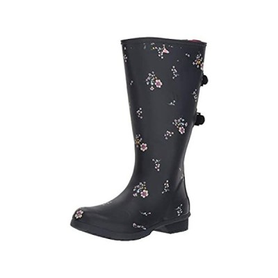 Chooka Women's Wide Calf Memory Foam Rain Boot, Navy, 11 M US