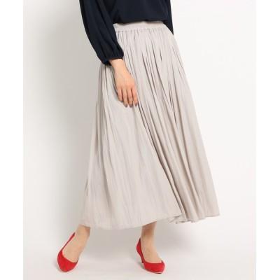 WORLD ONLINE STORE SELECT / 【XS~Lサイズあり・洗える】パウダーサテンロングスカート WOMEN スカート > スカート