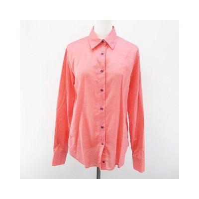 【中古】エトロ ETRO 長袖 シャツ ブラウス 44 ピンク系 イタリア製 ボタン 綿 コットン レディース 【ベクトル 古着】