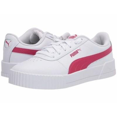 プーマ スニーカー シューズ レディース Carina L Puma White/Bright Rose/Bright Rose
