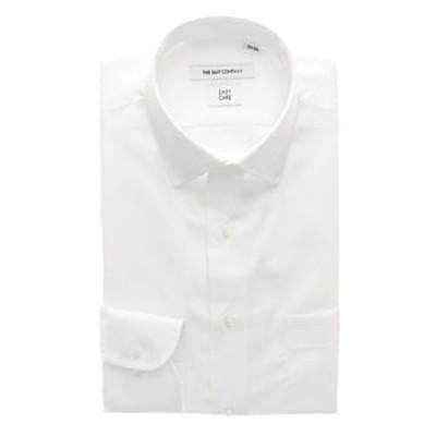 【再生繊維】ワイドカラードレスシャツ 無地 〔EC・FIT〕