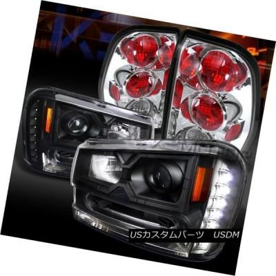 ヘッドライト 02-09トレイルブレイカー黒SMD LED DRLプロジェクターヘッドライト+ Chr   omeテールランプ