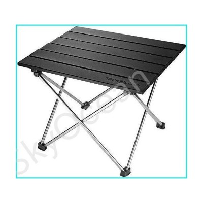 Small Folding Camping Table Portable Beach Table - Collapsible Foldable Picnic Table in a Bag - Mini Aluminum Side Table Lightweight Camp Ta