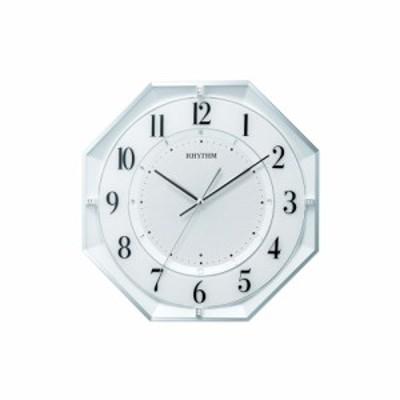 リズム時計工業 RHYTHM フィットウェーブクールM552 電波 壁掛け時計 8MY552SR03 連続秒針 八角形 白パール アナログ