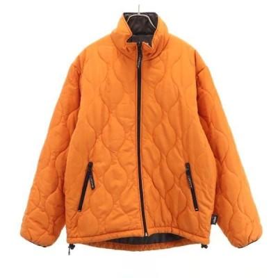 コンバース 中綿 ジップジャケット オレンジ CONVERSE メンズ 古着 210216
