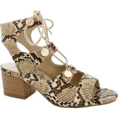 ペニー ラヴズ ケニー Penny Loves Kenny レディース サンダル・ミュール シューズ・靴 Serge Block Heel Lace Up Sandal Natural/Black Snake Print
