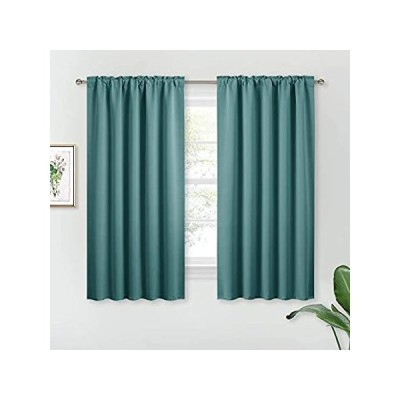 RYB HOME Black Out Curtains for Home Theatre Backdrop, Back Tab Header for